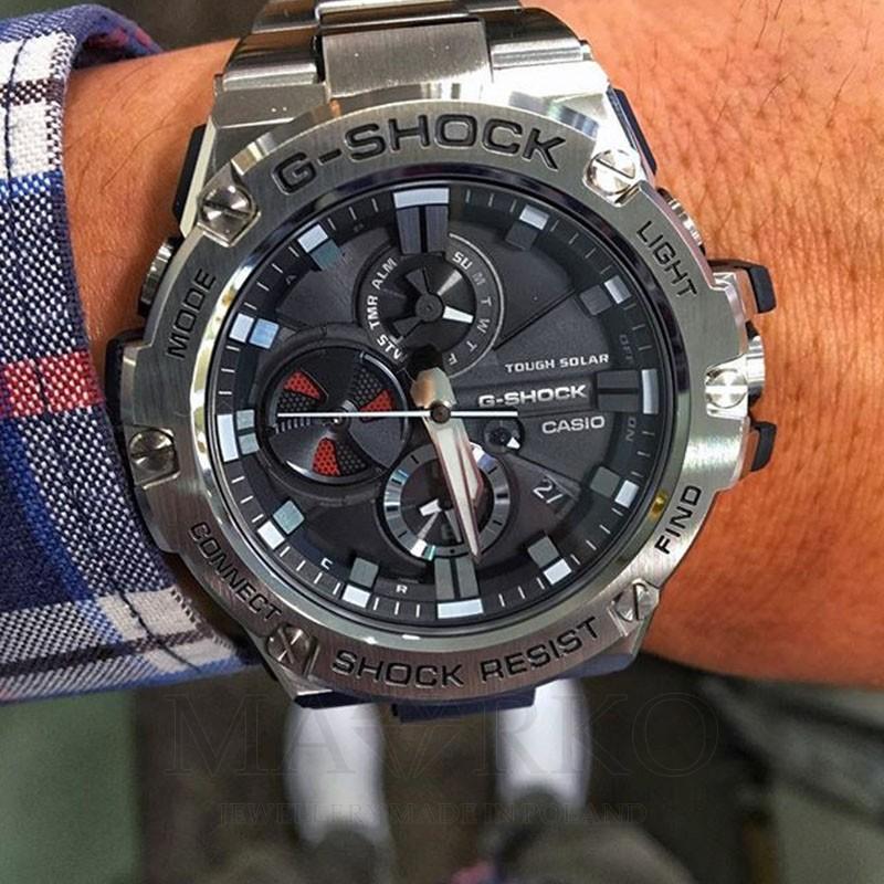 ff70b330cebe97 Sportowy zegarek męski Casio G-Shock GST-B100D-1AER - GST-B100D-1AER
