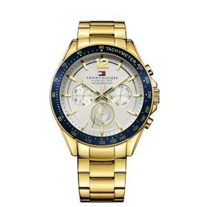 3bf7207332885 Męski zegarek Tommy Hilfiger 1791121 pozłacana bransoleta ...