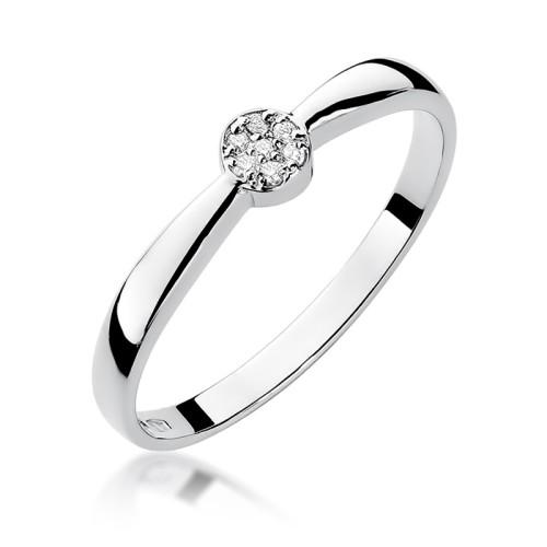 1a466760ec35cb Pierścionek zaręczynowy z białego złota brylanty W322-585-B0.04 MARKO