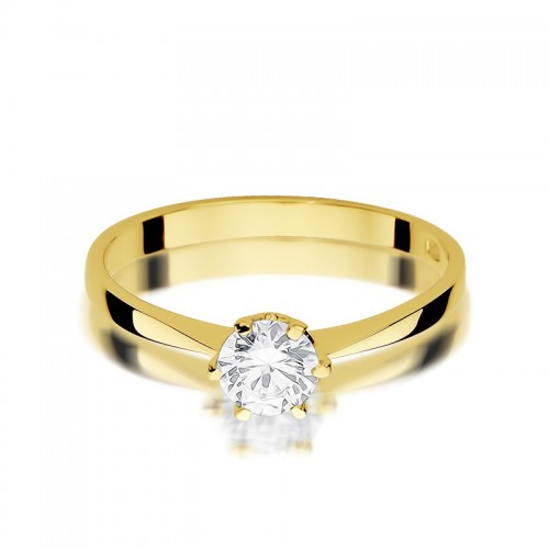 a99f8e2ba8263d Złoty pierścionek 333 z dużą cyrkonią zaręczynowy, CL002-333-C
